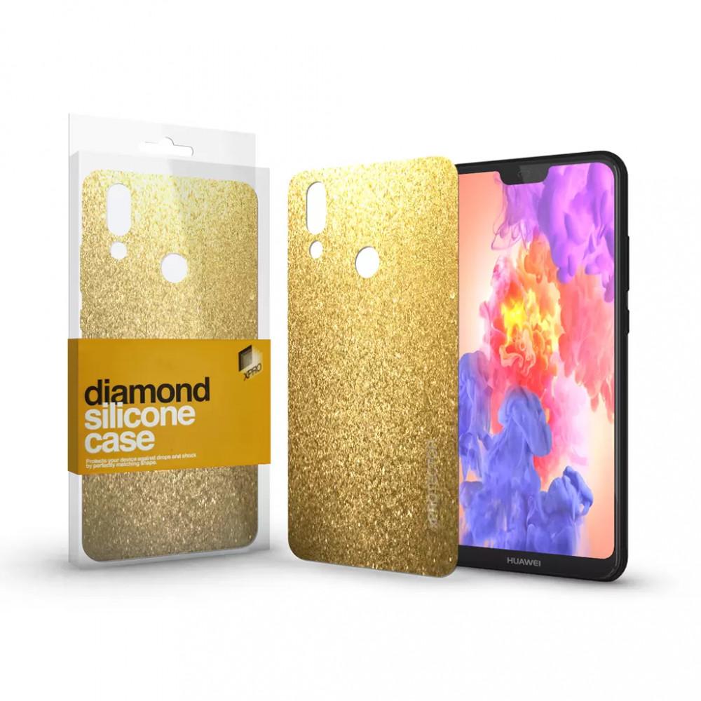 Szilikon tok (Diamond) Arany Huawei P20 Lite készülékhez