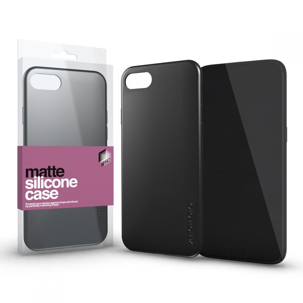 Szilikon matte tok ultra vékony fekete Huawei Mate 20 Lite készülékhez