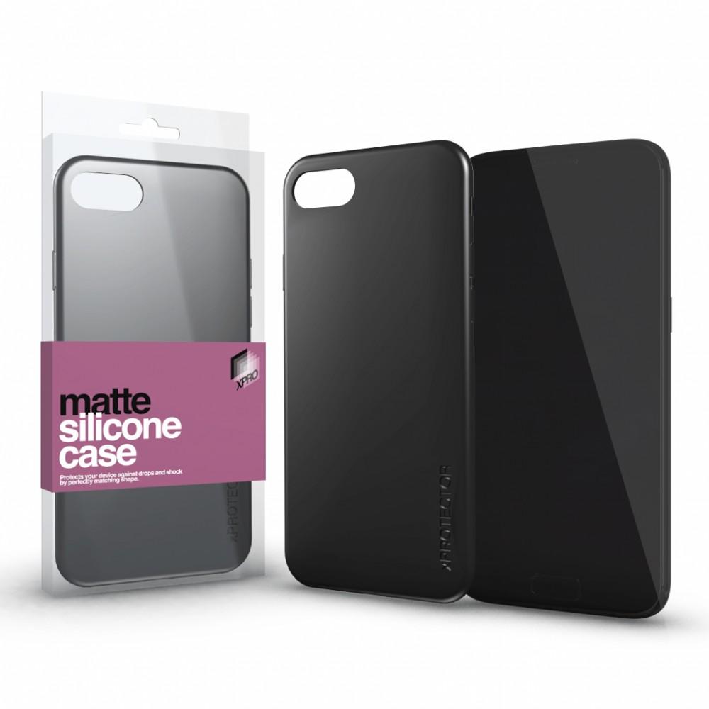 Szilikon matte tok ultra vékony fekete Samsung A50 készülékhez
