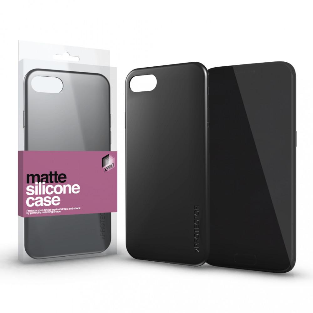 Szilikon matte tok ultra vékony fekete Huawei P Smart Z készülékhez
