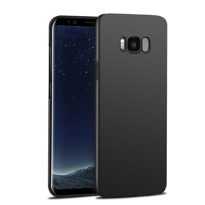 Samsung A205, A305 Galaxy A20 / A30 (2019) fekete matt vékony szilikon tok