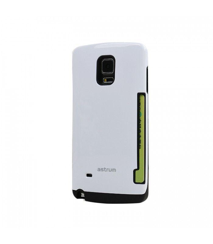 Astrum MC090 kártyatartós Samsung S6 EDGE hátlapvédő fehér