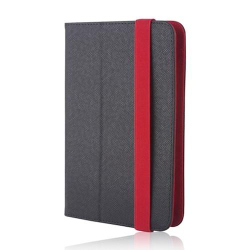 """Univerzális 9-10"""" kinyitható műbőr tablet tok fekete - piros"""